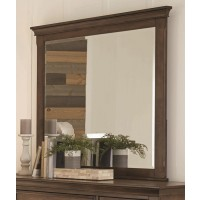 FRANCO COLLECTION - Franco Burnished Oak Dresser Mirror