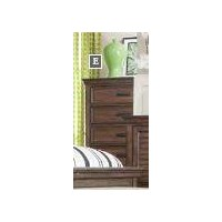 FRANCO COLLECTION - Franco Burnished Oak Five-Drawer Chest