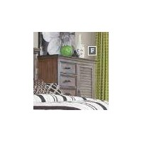 FRANCO COLLECTION - Franco Five-Drawer Chest With Louvered Panel Door