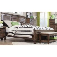 FRANCO COLLECTION - Franco Burnished Oak King Bed
