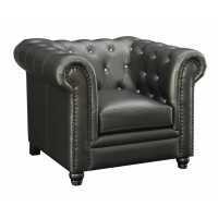 ROY COLLECTION - Roy Traditional Gunmetal Grey Chair