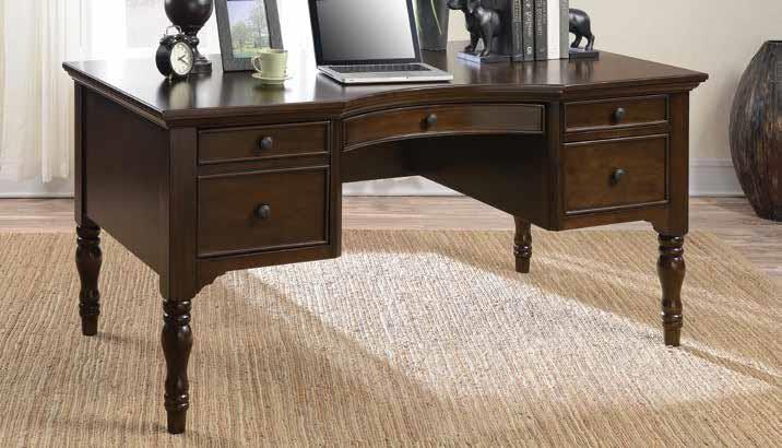 HOME OFFICE : DESKS   Traditional Dark Cherry Desk
