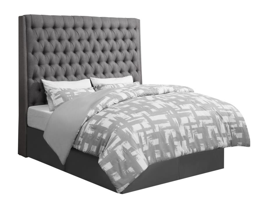 CAMILLE UPHOLSTERED BED - EASTERN KING BED | 300621KE | Complete ...