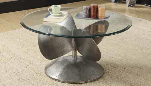 INDUSTRIAL/RUSTIC OCCASIONAL TABLES - Industrial Grey Coffee Table