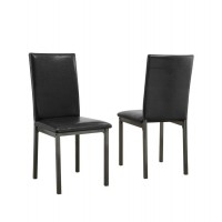 GARZA GROUP - Garza Black Upholstered Side Chair (Pack of 2)
