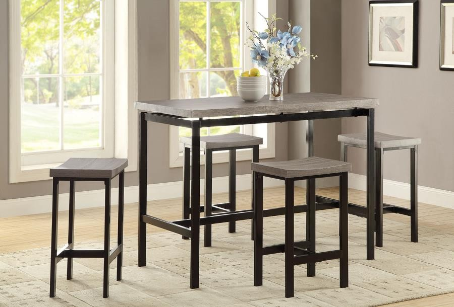 DINING: PACKAGED SETS : COUNTER HEIGHT - Five-Piece Counter-Height  Dining Set
