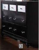 BARZINI BEDROOM COLLECTION - Barzini Seven-Drawer Dresser With Metallic Drawer Front