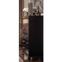 BARZINI BEDROOM COLLECTION - Barzini Five-Drawer Chest With Metallic Drawer Front