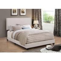 BOYD UPHOLSTERED BED - Boyd Upholstered Ivory King Bed