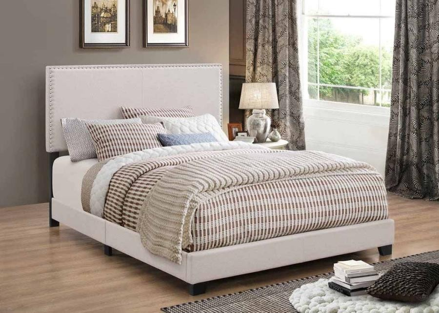 BOYD UPHOLSTERED BED - TWIN BED