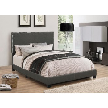 BOYD UPHOLSTERED BED - Boyd Upholstered Charcoal California King Bed