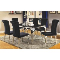 EVERYDAY DINING: SIDE CHAIR - Hollywood Glam Chrome Side Chair (Pack of 4)