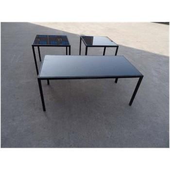 LIVING ROOM : OCCASIONAL SETS - Contemporary Black Three-Piece Set