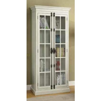 Traditional Antique White Tall Cabinet 910187 Curio