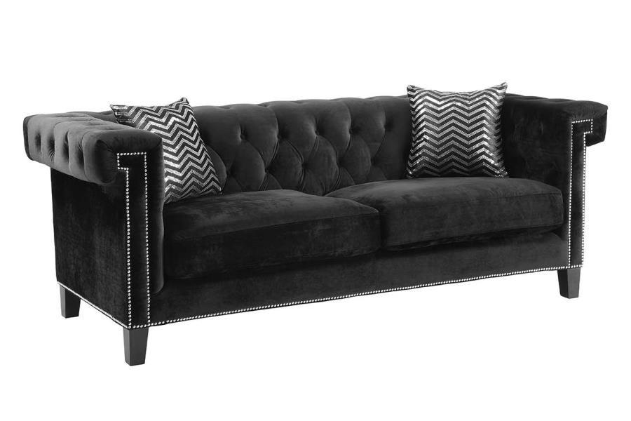 ABILDGAARD BEDROOM COLLECTION - Reventlow Formal Black Sofa