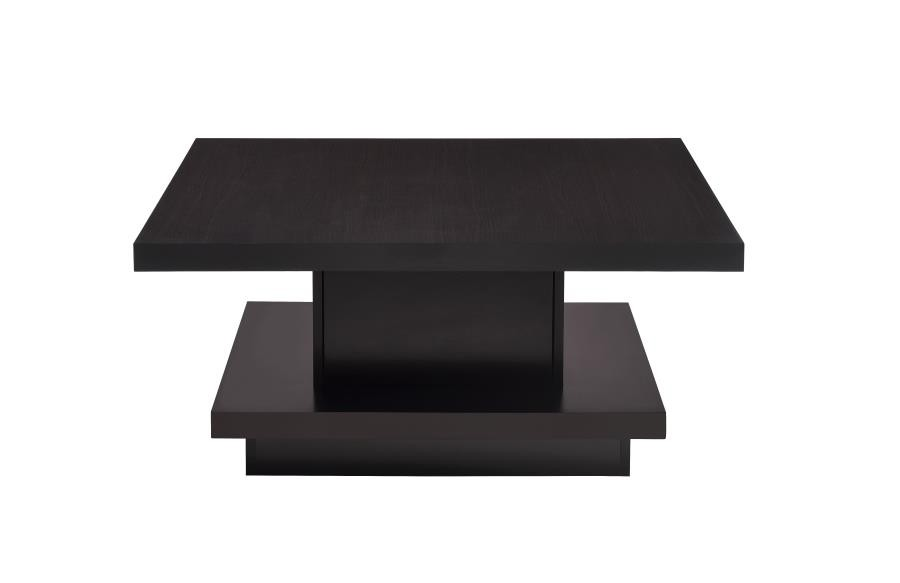 LIVING ROOM: WOOD TOP OCCASIONAL TABLES - COFFEE TABLE
