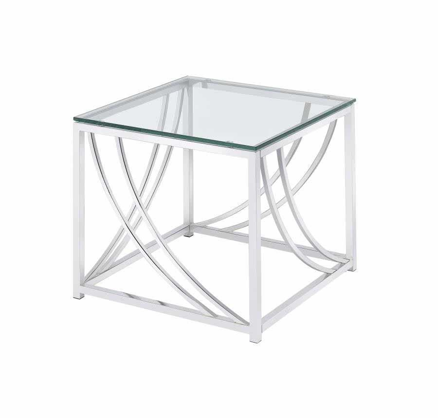 Enjoyable Living Room Glass Top Occasional Tables Contemporary Chrome Side Table Home Interior And Landscaping Spoatsignezvosmurscom