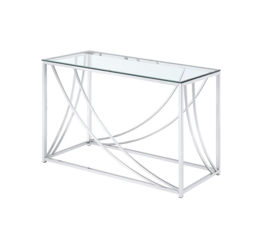 Peachy Living Room Glass Top Occasional Tables Contemporary Chrome Sofa Table Machost Co Dining Chair Design Ideas Machostcouk
