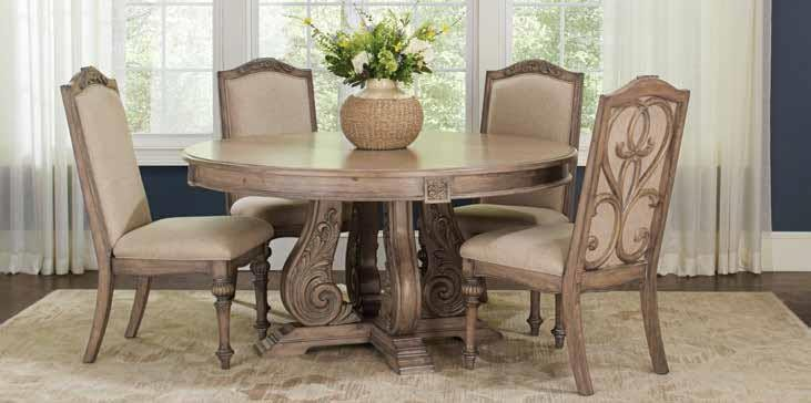 ILANA COLLECTION - Ilana Traditional Round Formal Dining Table
