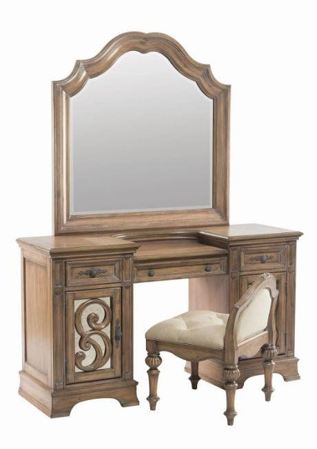 Ilana collection vanity mirror mirrors d l furniture for Vanity mirror sets furniture