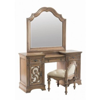 ILANA COLLECTION - Ilana Warm Oak Vanity Mirror
