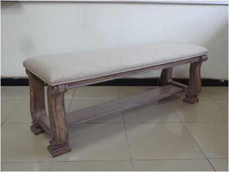 ILANA COLLECTION - Ilana Traditional Upholstered Bench With Bottom Shelf