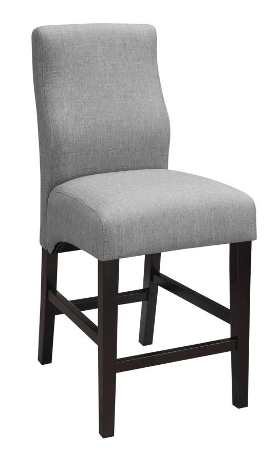Everyday Dining Stools Transitional Grey Upholstered