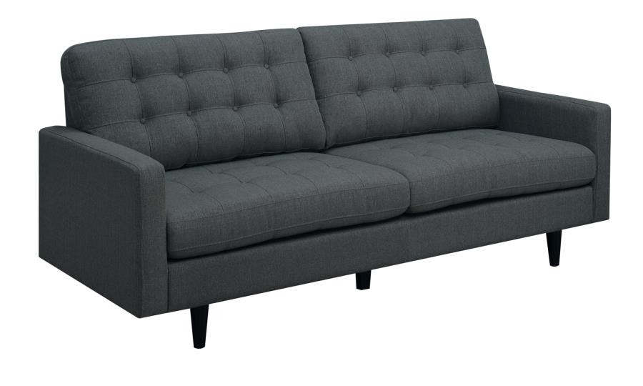 KESSON COLLECTION - Kesson Mid-Century Modern Charcoal Sofa
