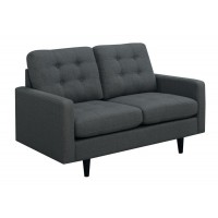 KESSON COLLECTION - Kesson Mid-Century Modern Charcoal Loveseat