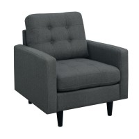 KESSON COLLECTION - Kesson Mid-Century Modern Charcoal Chair