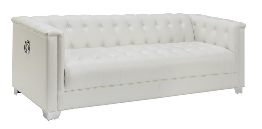 CHAVIANO COLLECTION - Chaviano Contemporary White Sofa | 505391 ...