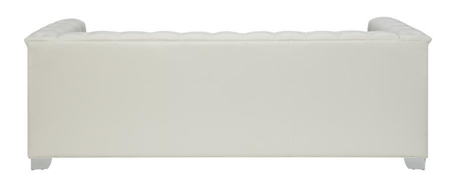 Chaviano Collection Chaviano Contemporary White Sofa