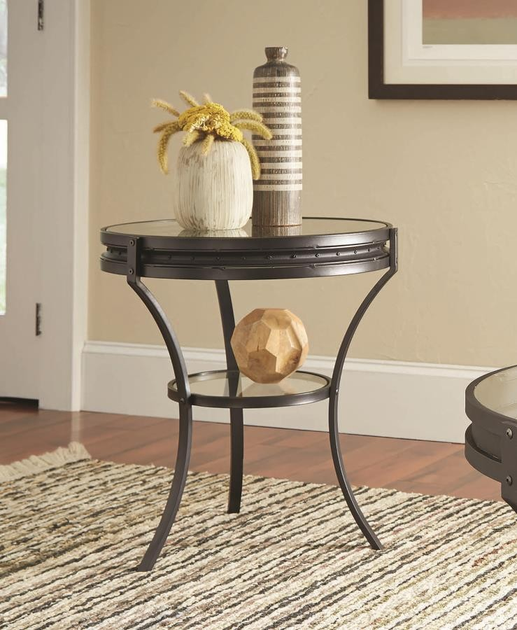 Living Room Industrial Rustic Occasional Tables Industrial Black Side Table 705217 End Tables Value Home Furniture