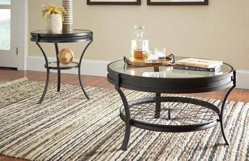 LIVING ROOM : INDUSTRIAL/RUSTIC OCCASIONAL TABLES - COFFEE TABLE