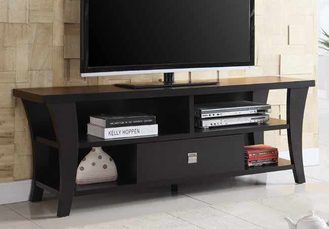 Living Room Tv Consoles Transitional Cappuccino Tv Console 700497 Tv Stands And Media Centers 209 Furniture Ca