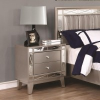 LEIGHTON COLLECTION - Leighton Contemporary Two-Drawer Nightstand