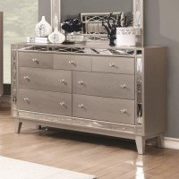 LEIGHTON COLLECTION - Leighton Contemporary Seven-Drawer Dresser