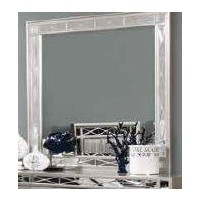 LEIGHTON COLLECTION - Leighton Contemporary Dresser Mirror With Beveled Edge