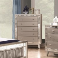 LEIGHTON COLLECTION - Leighton Contemporary Five-Drawer Chest
