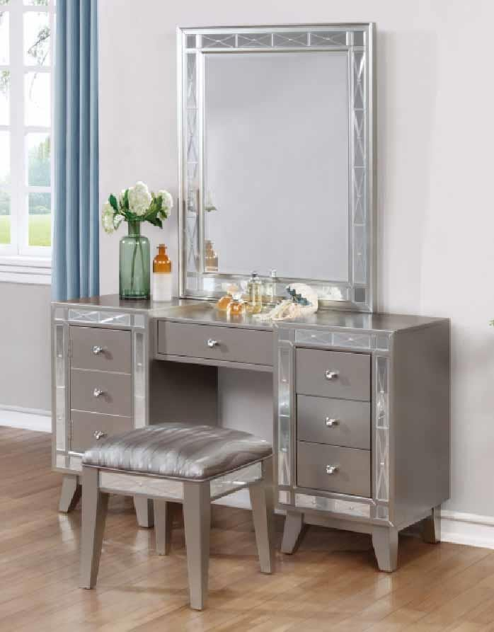 LEIGHTON COLLECTION - VANITY DESK & STOOL | 204927 | Bedroom ...