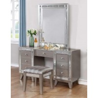 LEIGHTON COLLECTION - Leighton Contemporary Vanity Desk and Stool