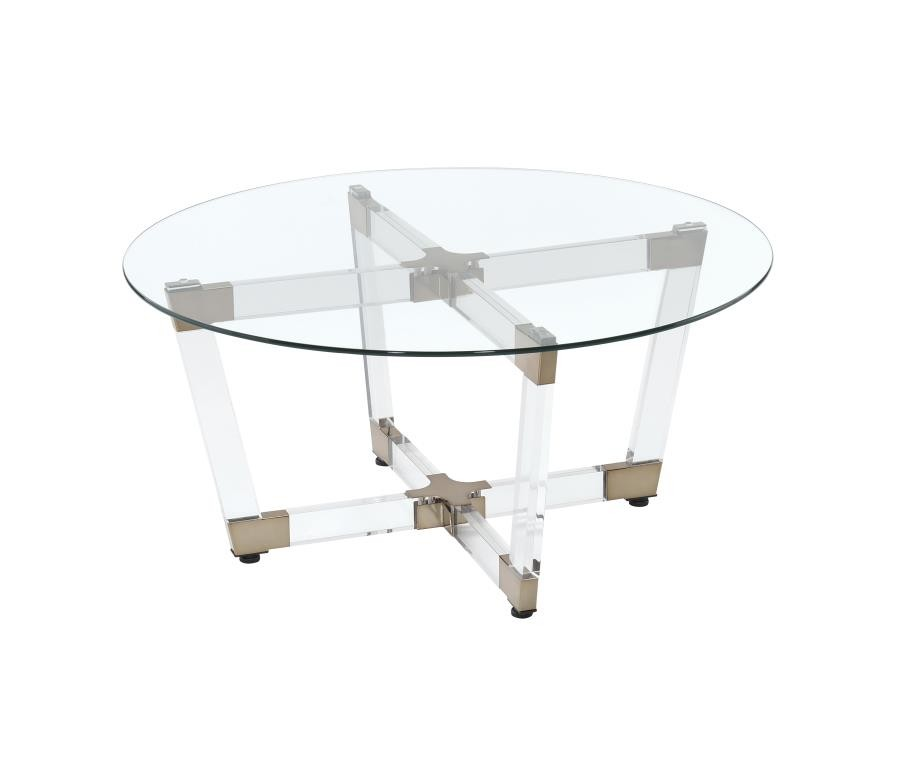 LIVING ROOM: GLASS TOP OCCASIONAL TABLES   Contemporary Clear Coffee Table