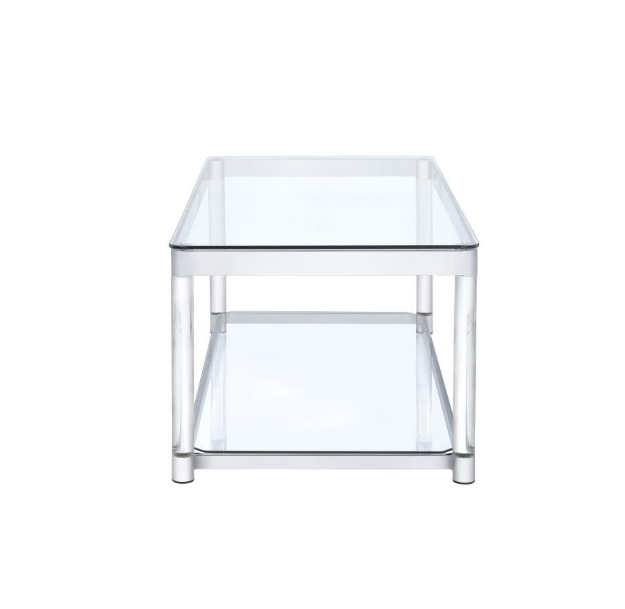 LIVING ROOM: GLASS TOP OCCASIONAL TABLES - COFFEE TABLE   720748 ...