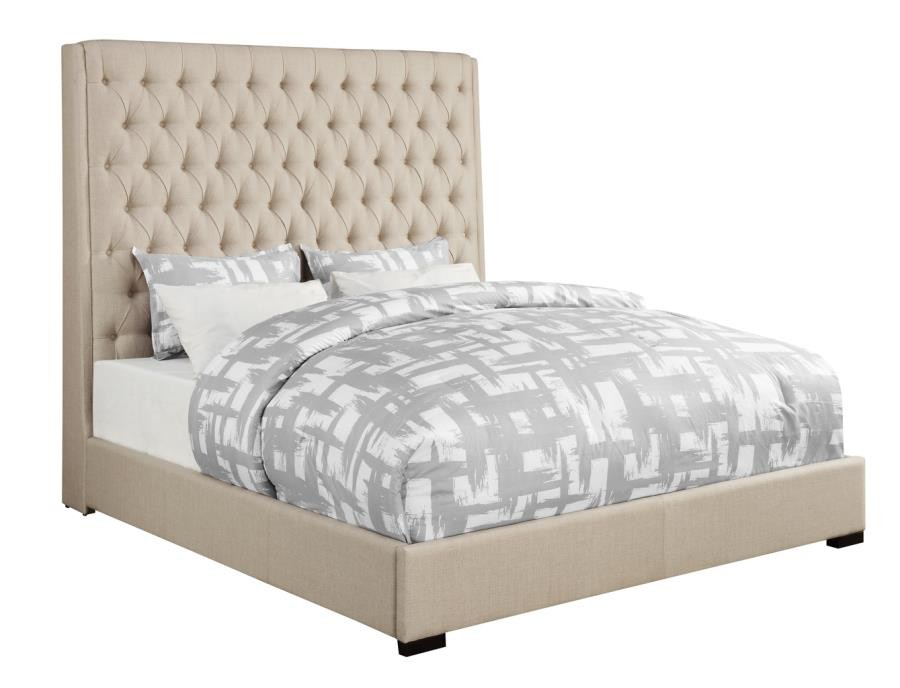 CAMILLE UPHOLSTERED BED - QUEEN BED