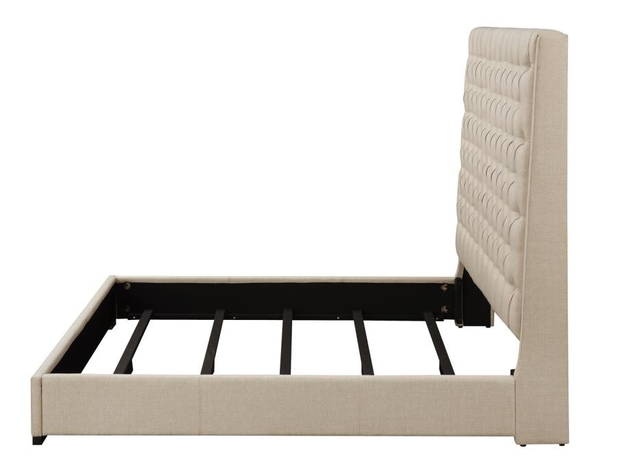 Camille Upholstered Bed Cal King Bed 300722kw