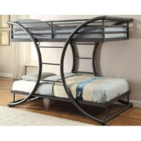 Stephan Bunk Bed - Stephan Contemporary Gunmetal Twin-over-Twin Bunk Bed