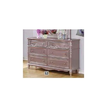 CAROLINE COLLECTION - Caroline Metallic Lilac Dresser