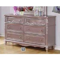 CAROLINE COLLECTION - Caroline Metallic Lilac Dresser