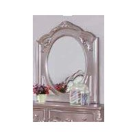 CAROLINE COLLECTION - Caroline Metallic Lilac Mirror