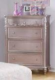 CAROLINE COLLECTION - Caroline Metallic Lilac Four-Drawer Chest